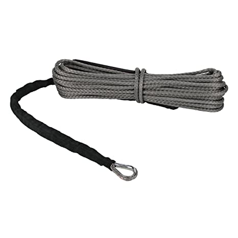 "Gray UTV Winch Rope Extreme Max /""The Devil/'s Hair/"" Synthetic ATV"