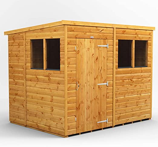 POWER - Caseta de jardín de madera, 7 m2, 2, 5 x 1, 8 m, cabaña de jardín: Amazon.es: Jardín