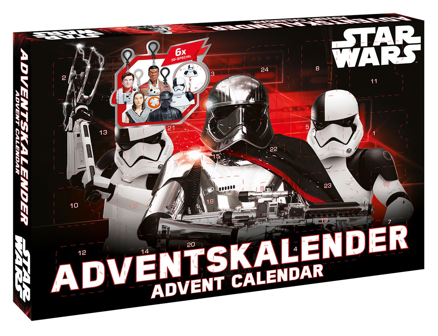 Craze 57385 Star Wars Adventskalender, Bunt Craze_57385