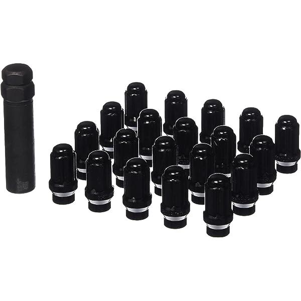 Gorilla Automotive 21133ETBC Black 12mm x 1.50 Thread Size Chrome Finish Small Diameter 5-Lug Kit, Pack of 20