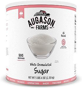 Augason Farms White Granulated Sugar 5 lbs 4 oz No. 10 Can
