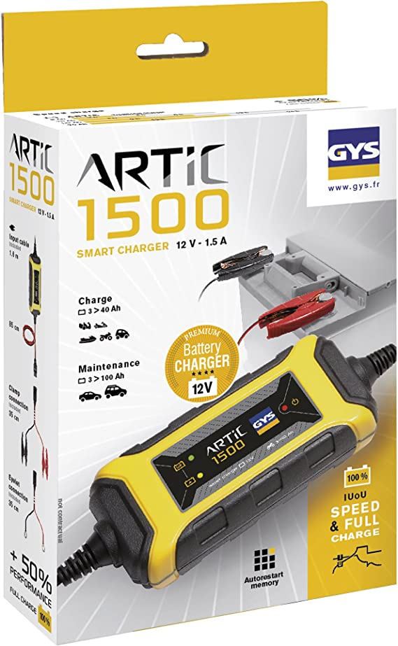 Gys 029576 Batterieladegeräte 12 V Artic 1500 Auto