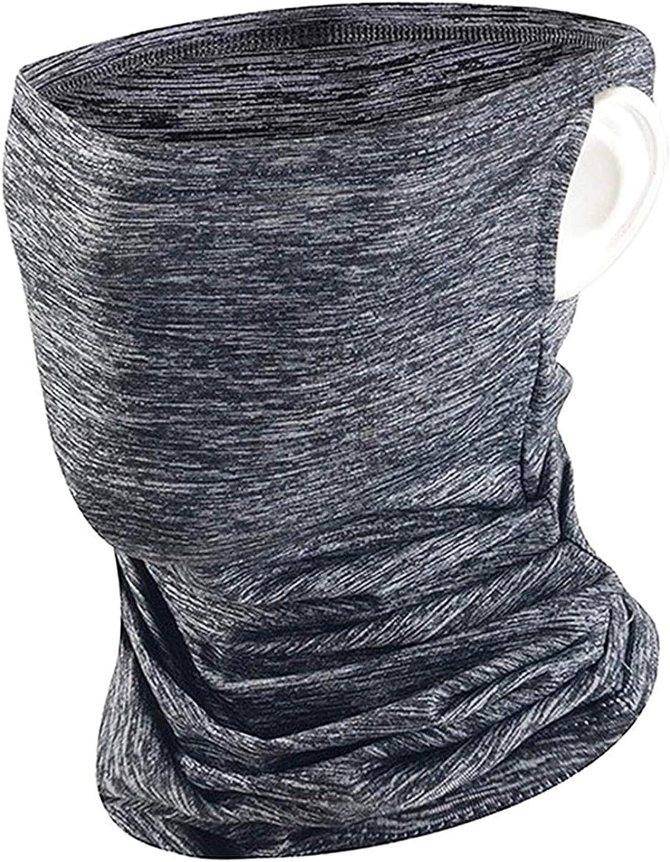 Balaclava Bandana Neck Gaiter Headwear Ice Silk Cooling Sports Scarf for Outdoors Grey