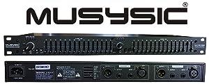 MUSYSIC MU-EQ15B Professional Dual 15-Band Stereo Graphic Digital Equalizer