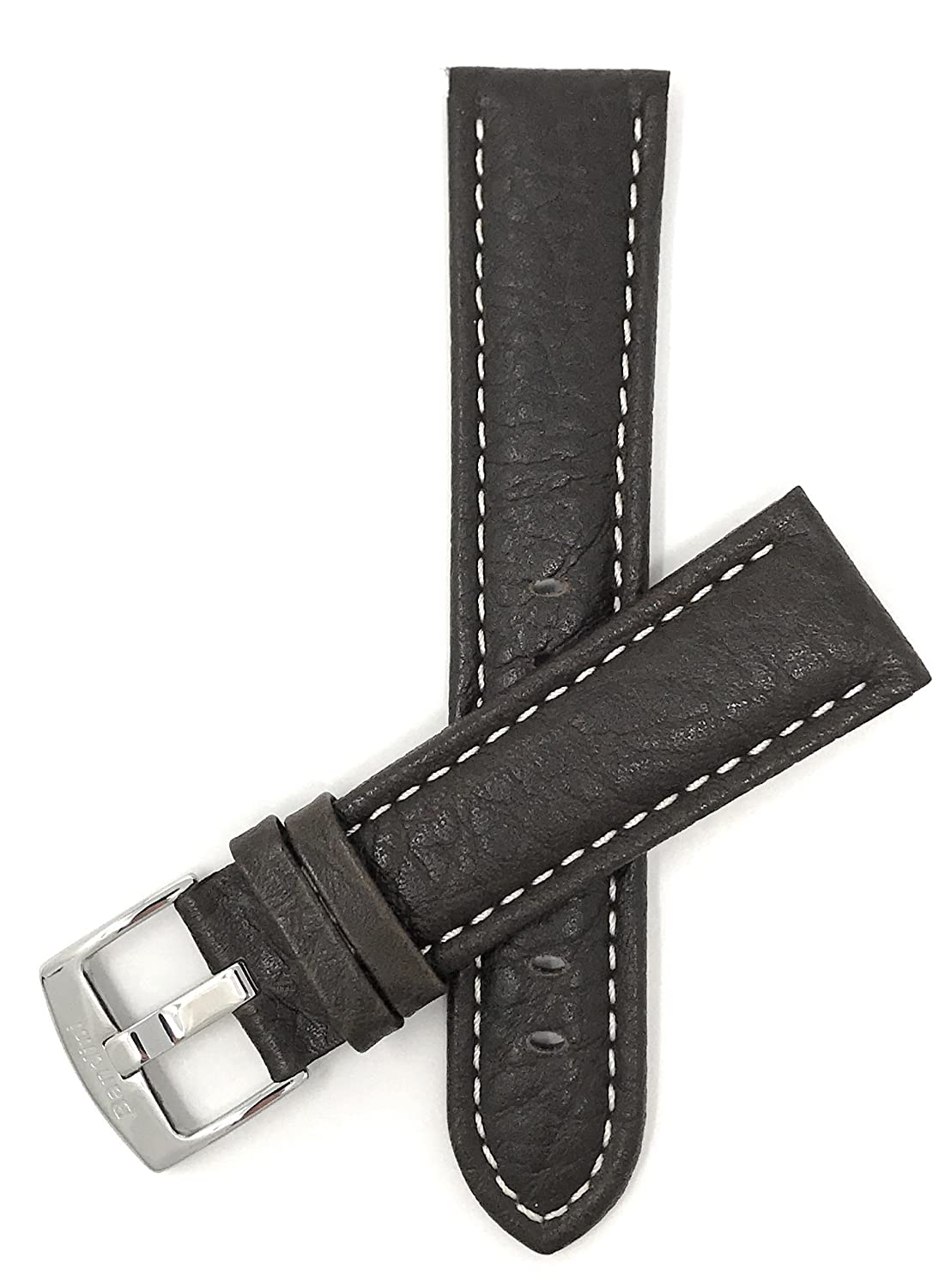 dde0af472c9 Extra Long (XL) 28mm Brown Classic Genuine Leather Buffalo Pattern ...