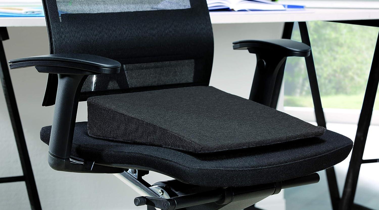 Silber Schwar Textilien Sitzkeilkissen Keilkissen Sitzkissen Sitzerh/öhung Auto Kissen Keil orthop/ädisch
