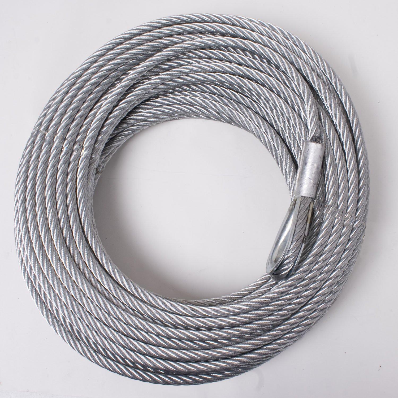 Rugged Ridge 15103.02 Cable Winch Steel 23/64' x 94' Omix-Ada
