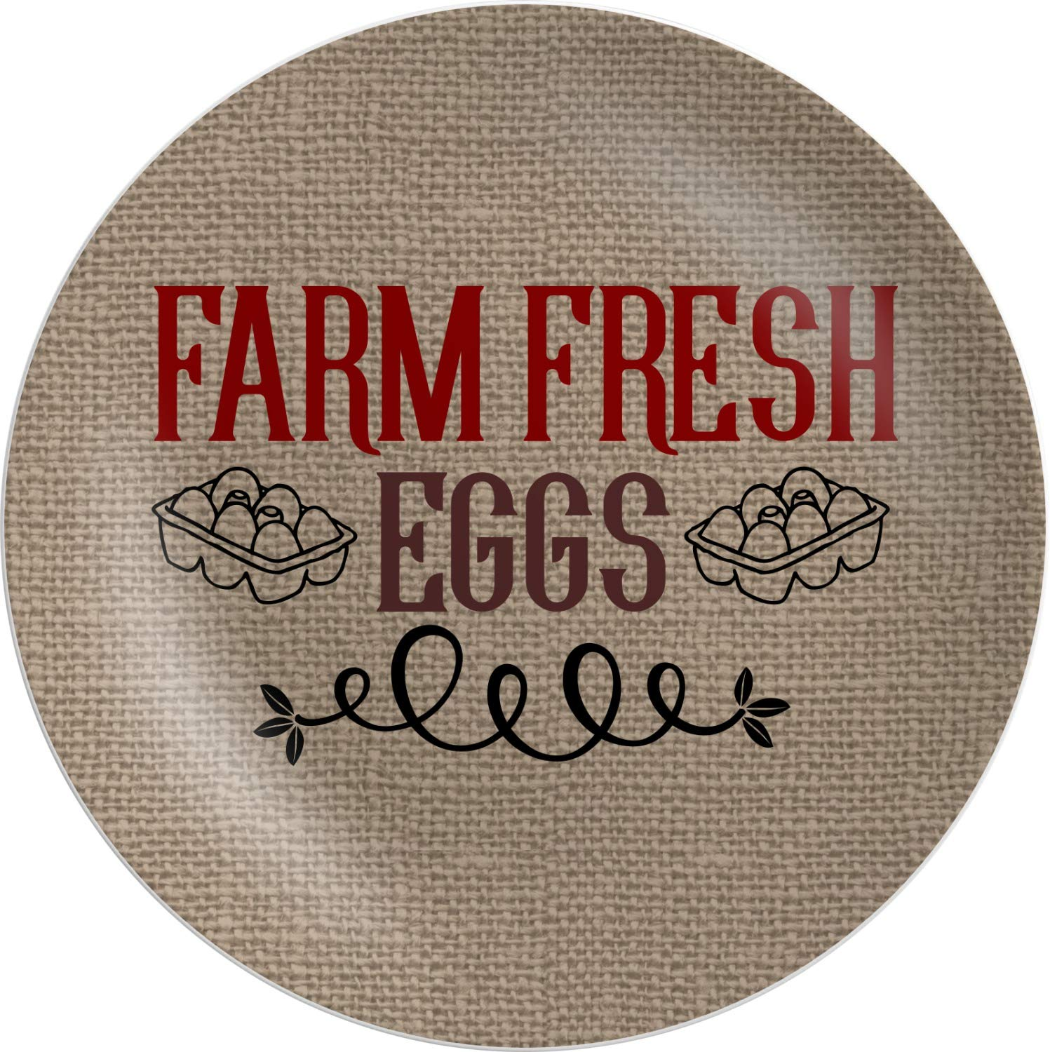 Amazon.com | Farm Quotes Melamine Plate - 8