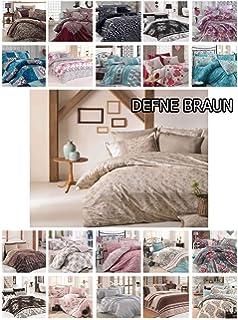 Bettwäsche 135x200 Cm Bettgarnitur Bettbezug Baumwolle Kissen 6 Tlg Irem Grau Möbel & Wohnen Bettwaren, -wäsche & Matratzen