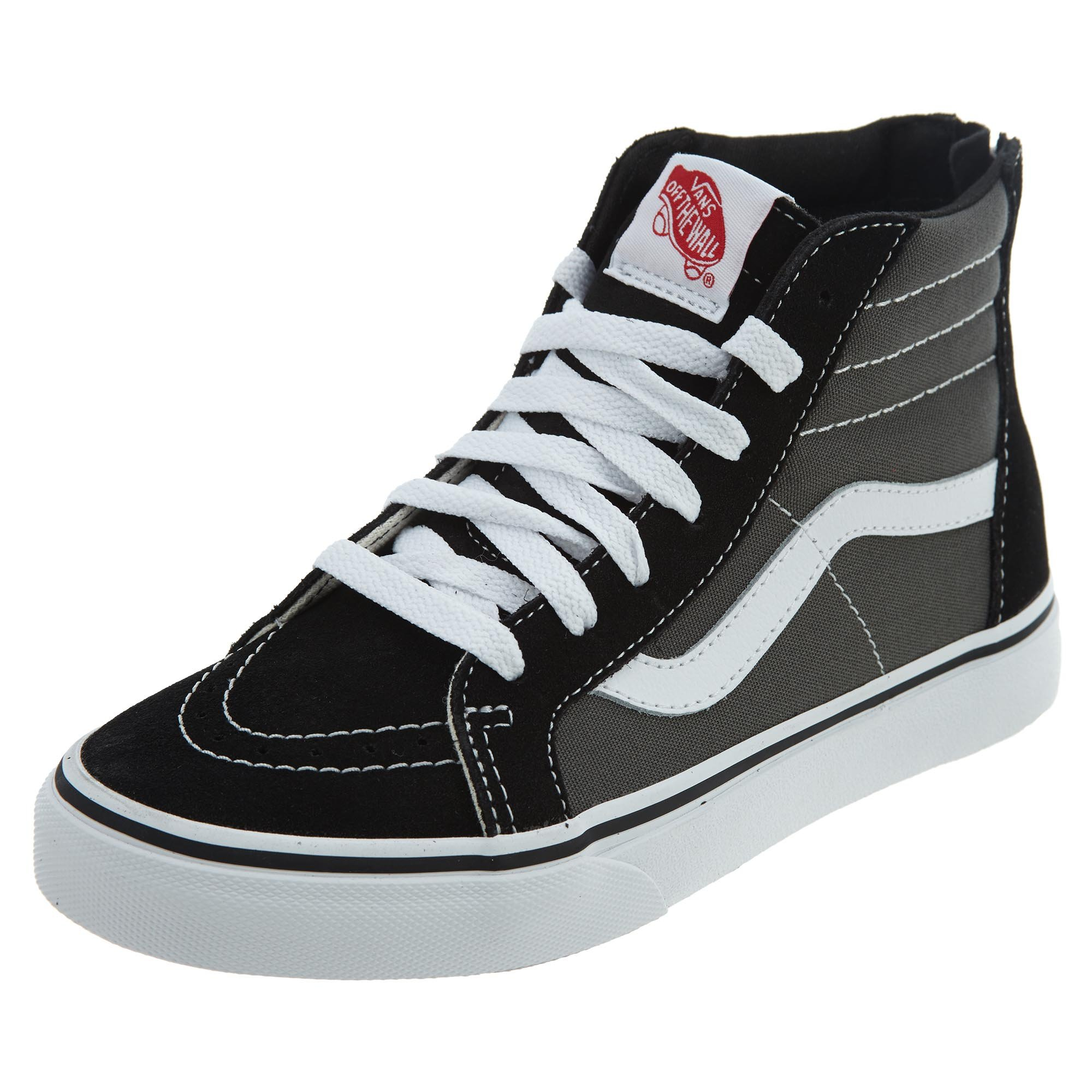 Vans Kids' Sk8-Hi Zip-K Black/Charcoal