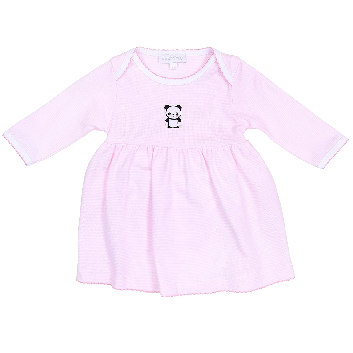 Magnolia Baby Baby Girl Little Panda Embroidered Dress Set Pink