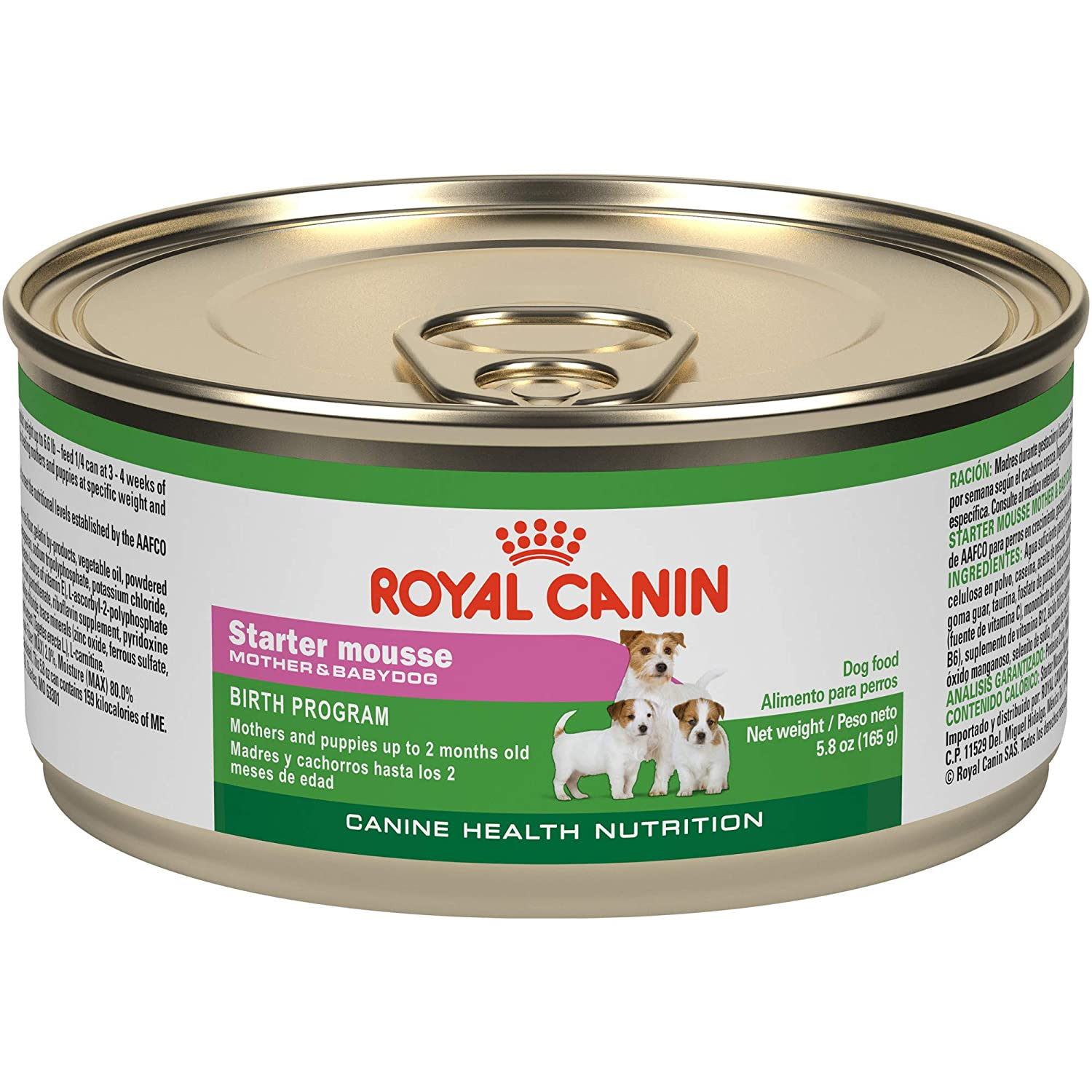 Royal Canin Starter Mousse For Mother And Baby Dog Canned Dog Food, 5.8-Ounce, 3-Can