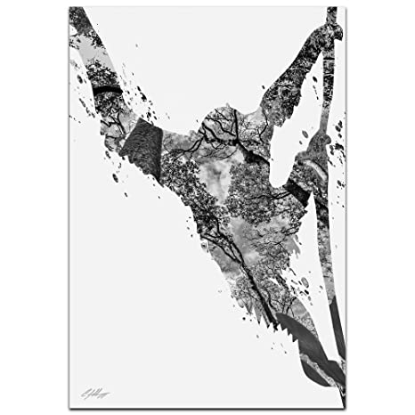 e68226aef0db Mono de silueta Animal Selva Gris 'Por Adam schwoeppe - fotografía ...