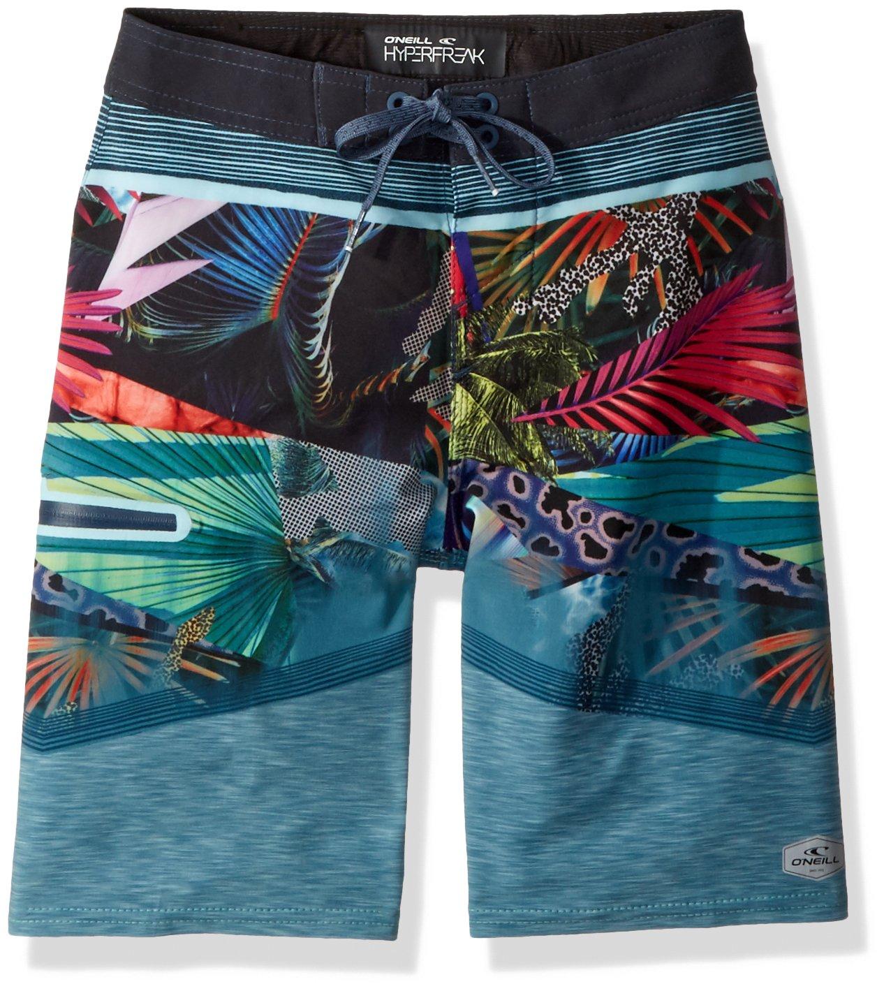 O'Neill Big Boys' Hyperfreak Quick Dry Stretch Boardshort, Dark Blue, 23