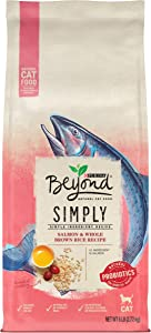 Purina Beyond Natural Limited Ingredient Dry Cat Food, Simply Salmon & Whole Brown Rice Recipe - 6 lb. Bag