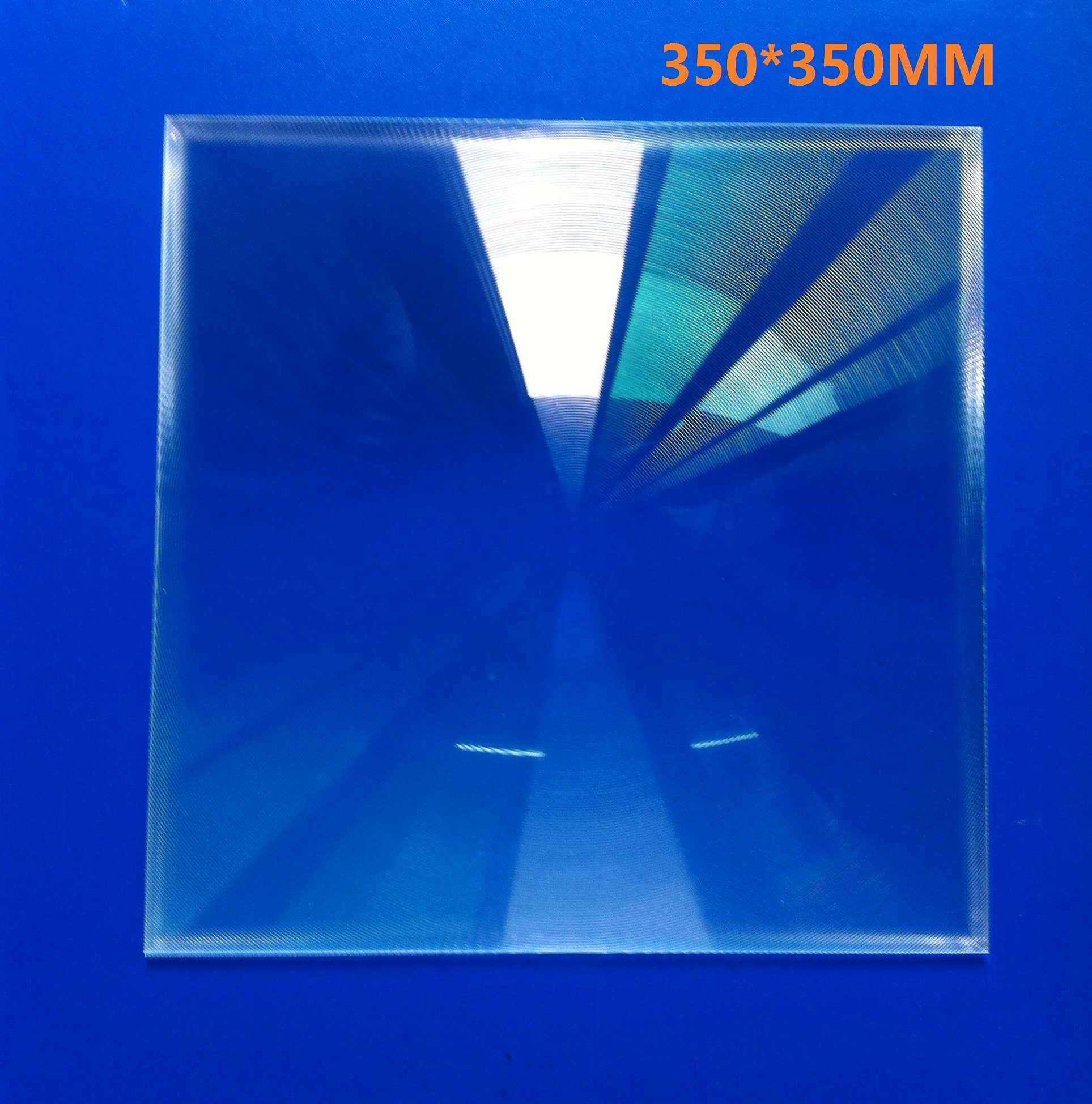 2-Pack Square Fresnel lens 350*350MM Focal Length 370mm for solar collecting, cooking outside,solar energy fresnel lens, DIY Project by Six Seasons (Image #1)