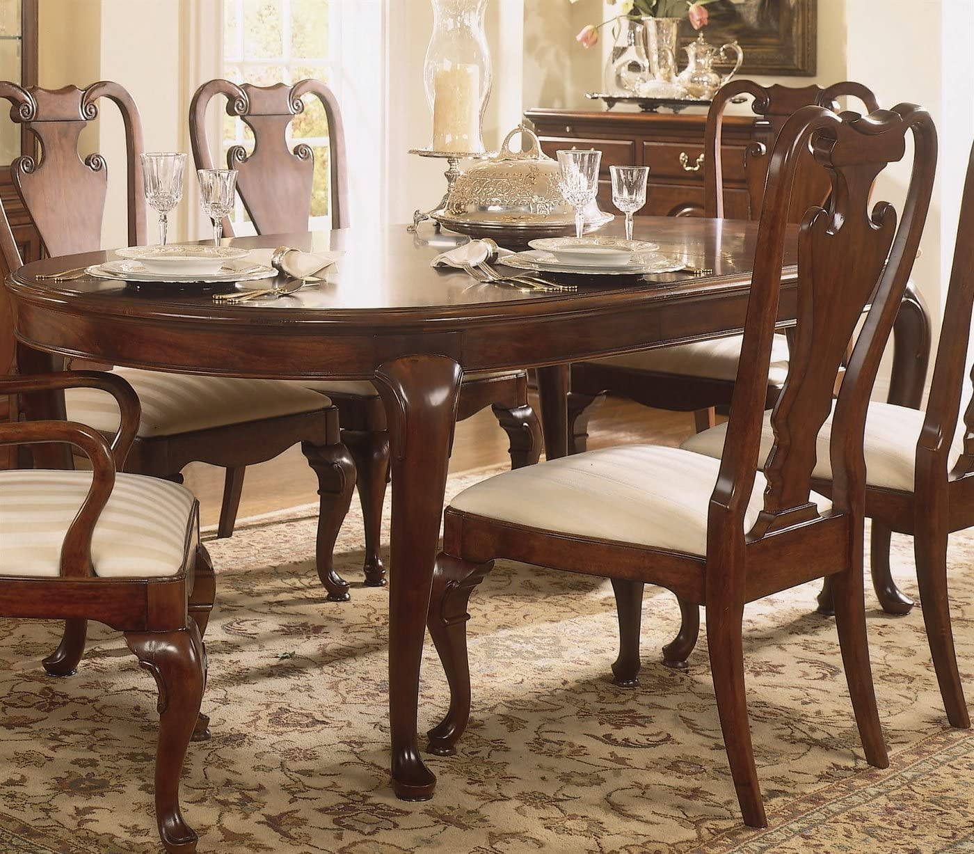American Drew Cherry Grove Oval Leg Formal Dining Table