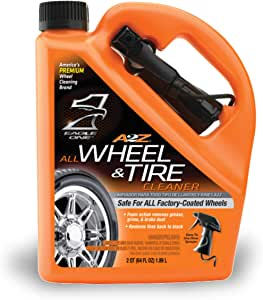 Eagle One E300890900 Cleaner, Triple Cleaning Foam Spray, 64 oz Removes Grease, Grime, Brake Dust for a Tire Shine-Safe for All Factory-Coated Wheels