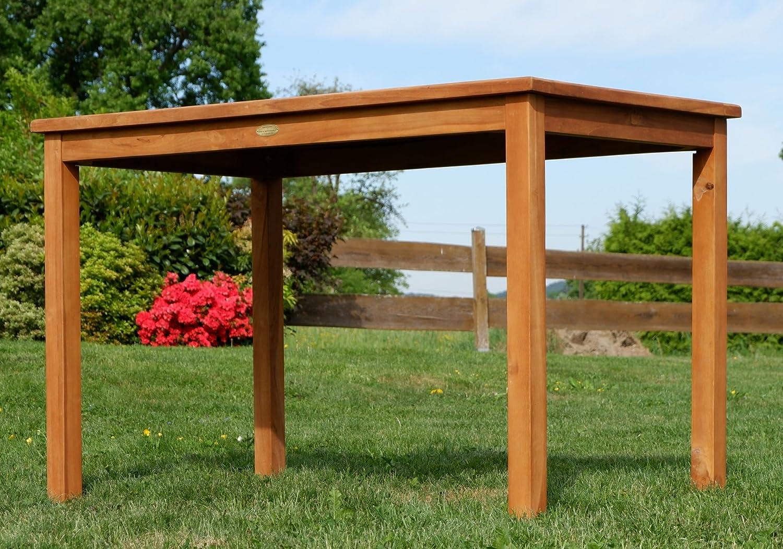 Mesa de madera ASS de teca, XL de 120 x 70 cm, para jardín, muy ...