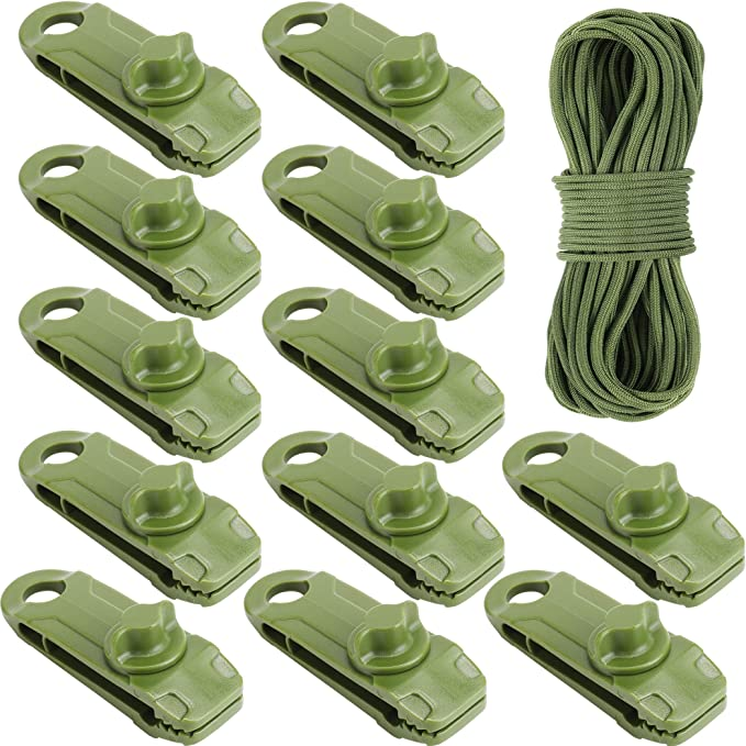 Green Gust Guard Car Cover Clamp Fedaog,Tarp Clips Heavy Duty Lock Grip Pool Awning Cover Bungee Cord Clip 20 Pack Tarp Clamps Heavy Duty Shark Tent Fasteners Clips Holder