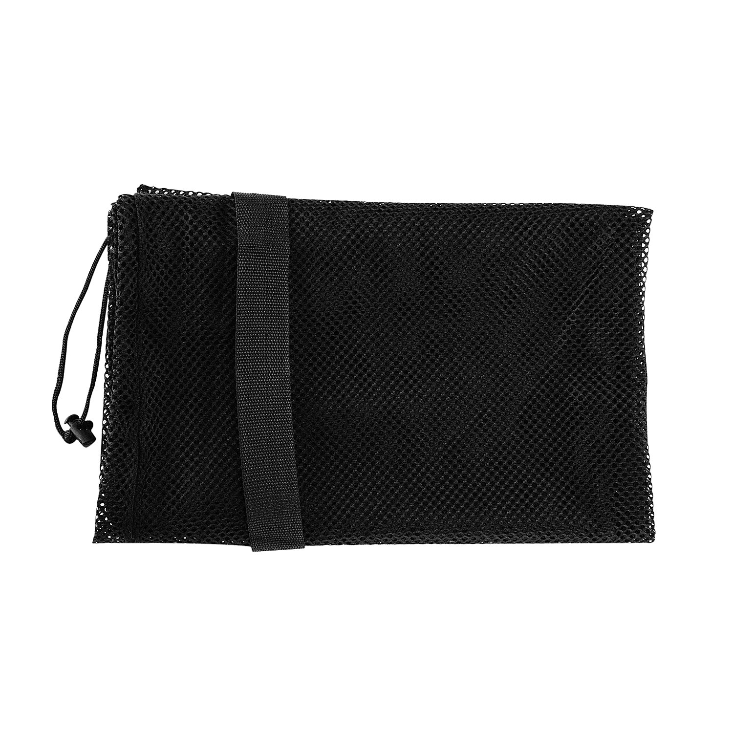 Super Z Outlet Sports Ball Bag Drawstring Mesh - Extra Large Professional Equipment with Shoulder Strap Black (30'' x 40'' Inches) by Super Z Outlet (Image #3)