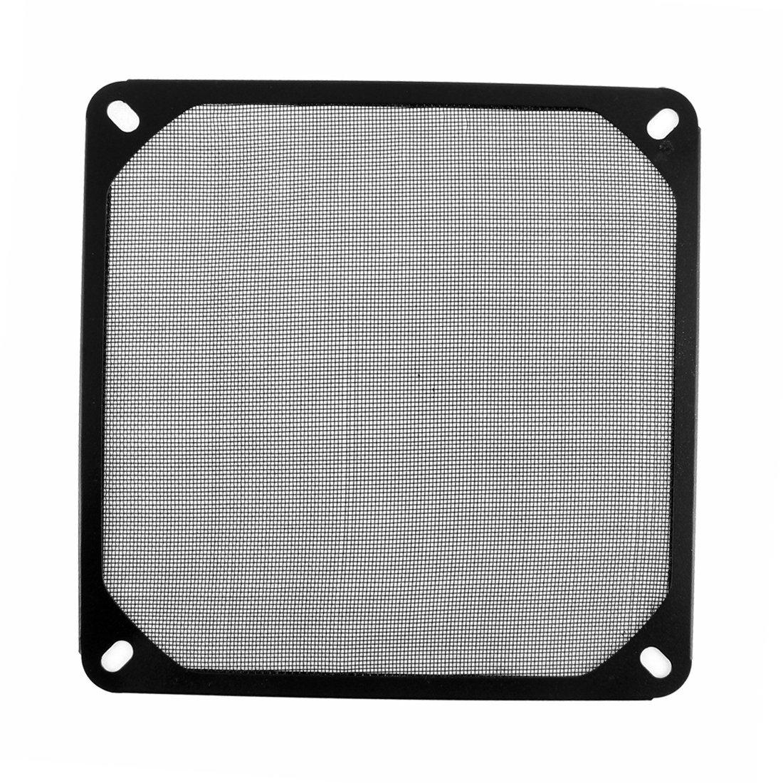 140mm x 140mm PC a prueba de polvo del ventilador del refrigerador cubierta de polvo filtro de malla Negro DealMux DLM-B01A8L8P84