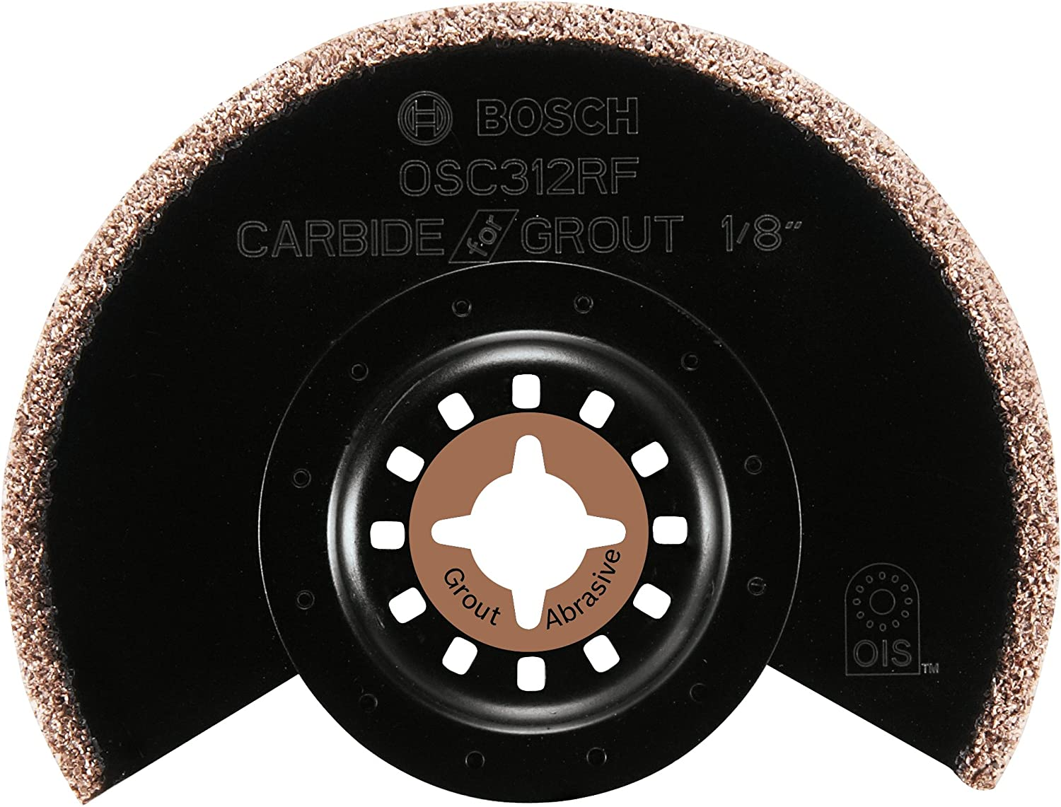 Bosch OSC312RF 3-1/2 In. x 1/8 In. Kerf Multi-Tool Carbide/Grit Grout Grinding Blade