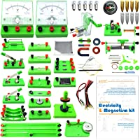 EUDAX School Physics Labs Basic Electricity Discovery Circuit and Magnetism Experiment Kits for Kids Junior Senior High…