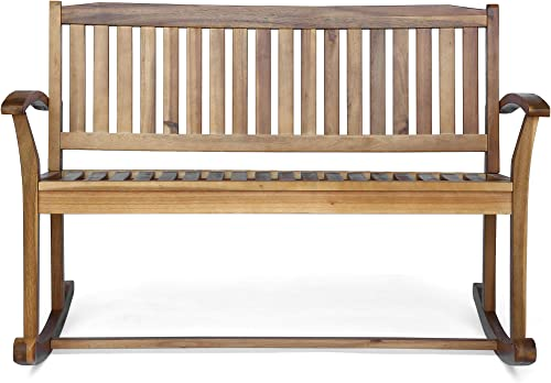 Christopher Knight Home 305950 Dexter Patio Glider | Acacia Wood Finish