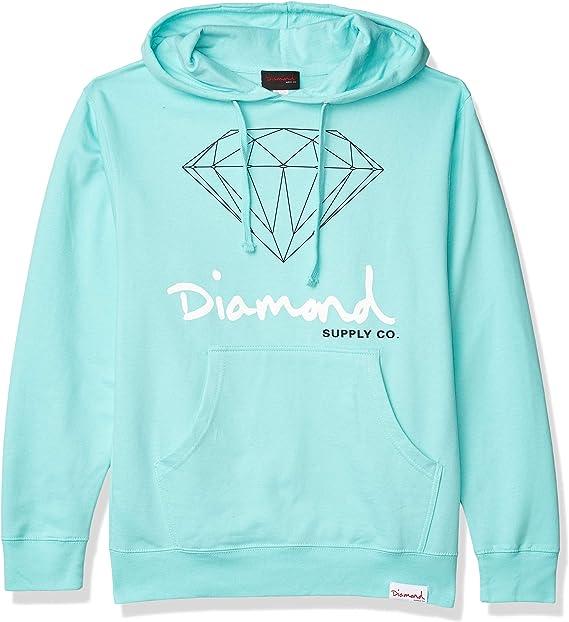 Diamond Supply Co MensOg Script Brilliant Pullover Hoodie