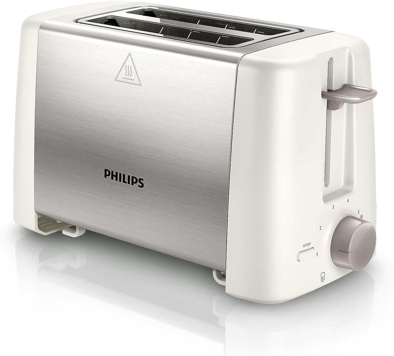 Philips Daily Collection HD4825//00 tostapane 2 fetta//e Acciaio inossidabile Bianco 800 W