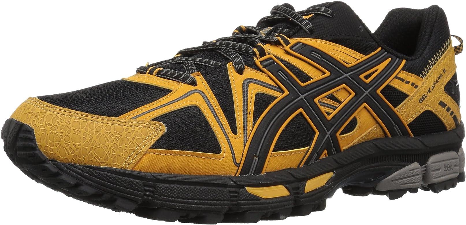 ASICS Mens Gel-Kahana 8 Running Shoe, Directoire Blue/Vibrant Yellow/Black, 8 Medium US: Asics: Amazon.es: Zapatos y complementos