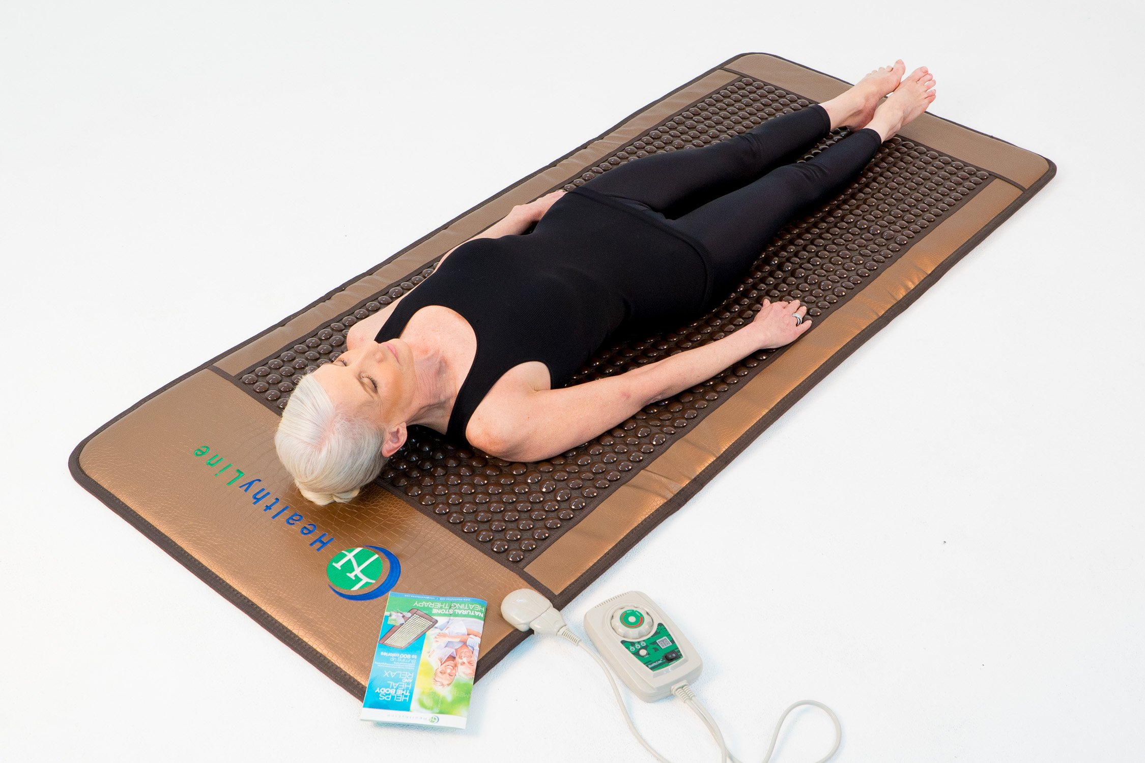 HealthyLine Far Infrared Heating Mat - For Pain Relief, Stress & Insomnia 76'' x 32'' | Natural Tourmaline Stone | Negative Ions (XL & Firm) | FDA Registered by HealthyLine (Image #8)