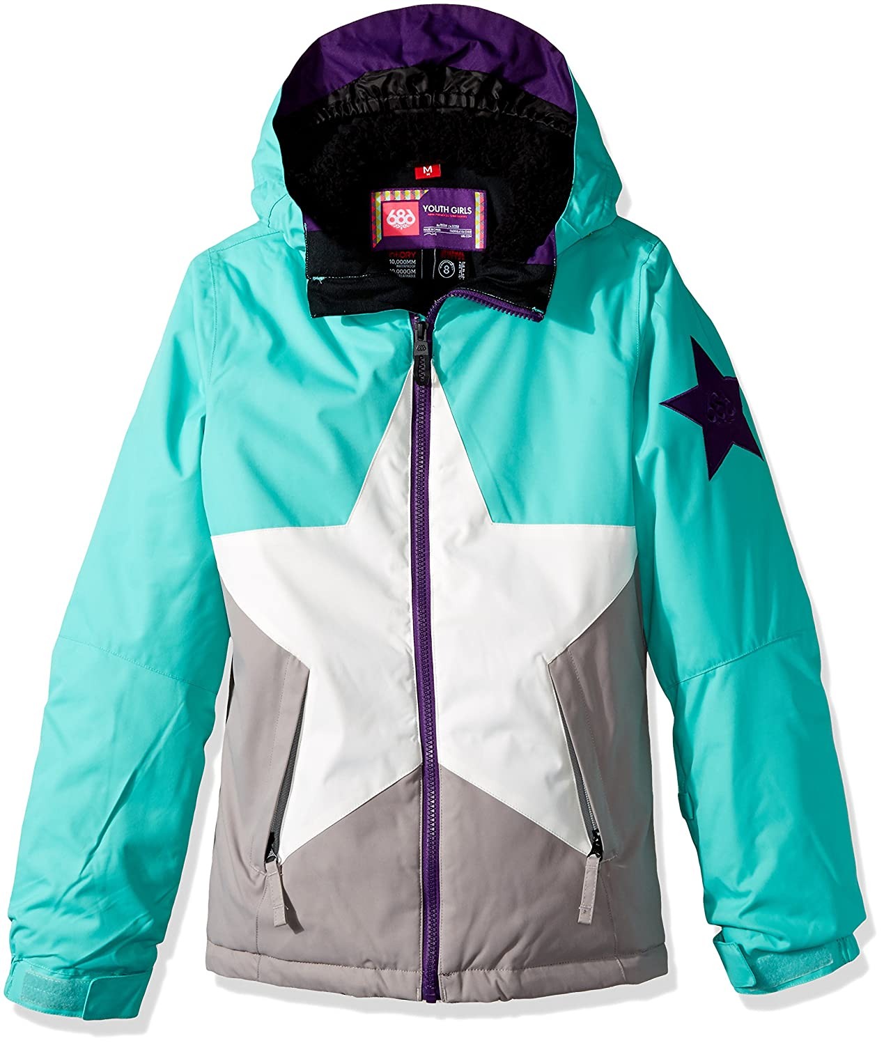 65effc73150f Amazon.com  686 Girl s Star Insulated Jacket