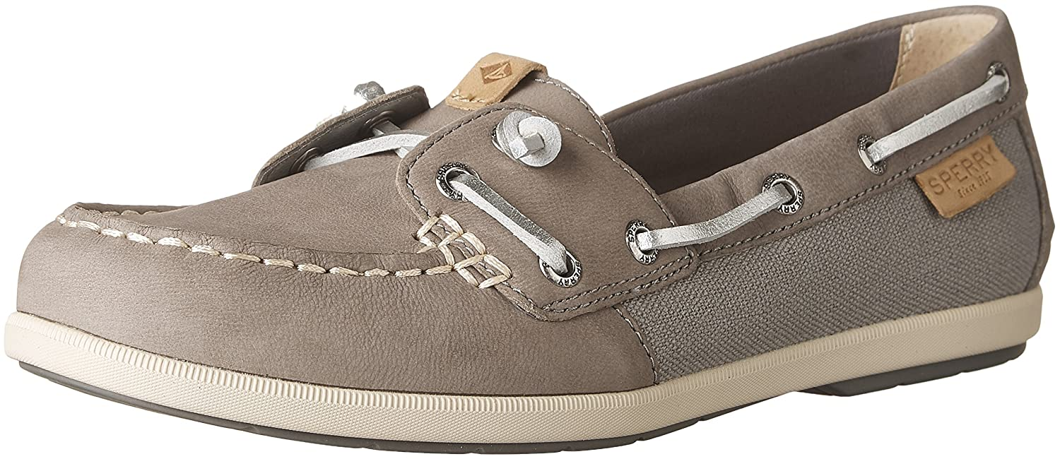 Sperry Top-Sider Women's Coil Ivy Leather/Canvas Boat Shoe B01FWUMWYO 8 B(M) US|Grey