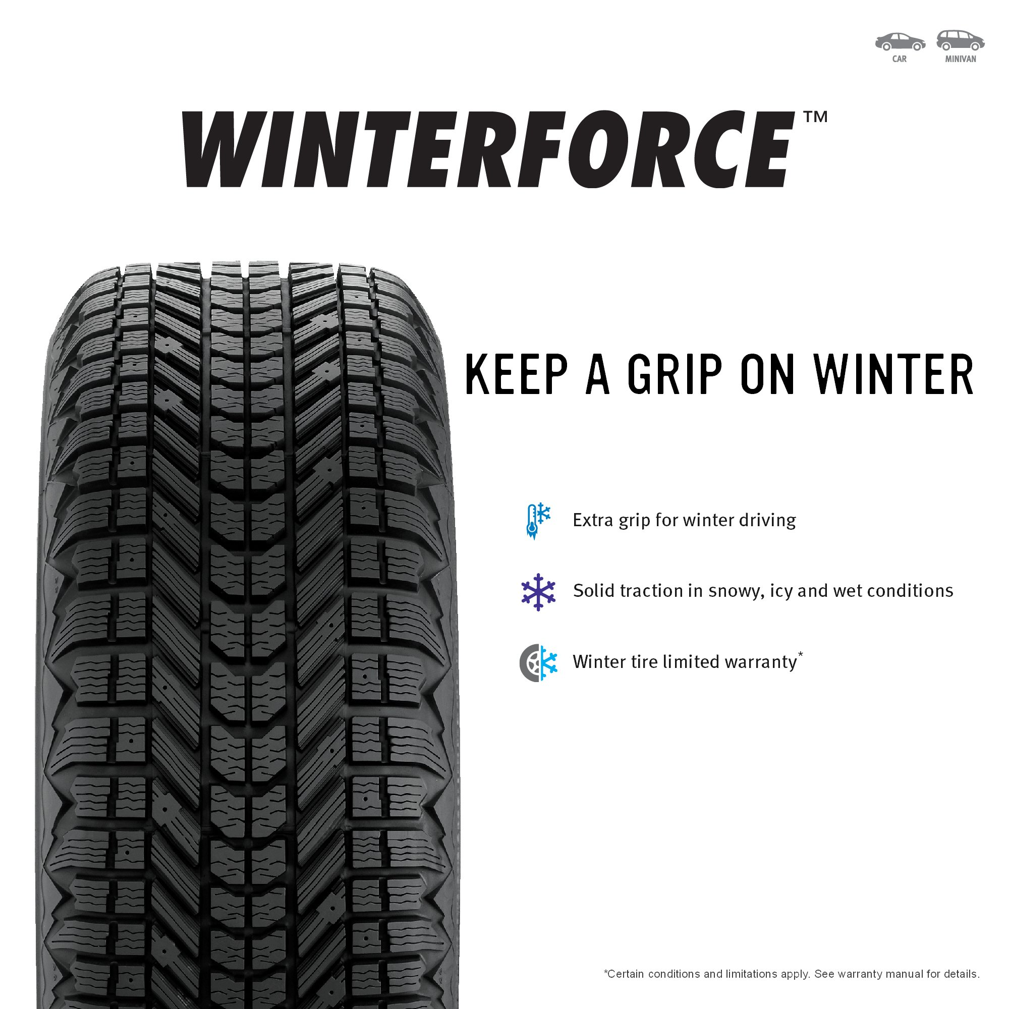 Firestone Winterforce Winter Radial Tire - P205/75R14 95S