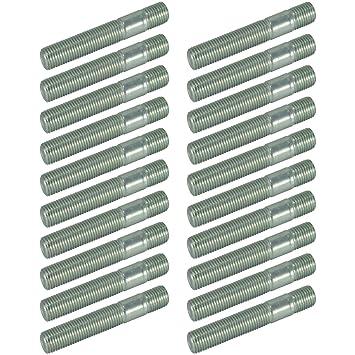 20 x doble rosca pernos M14 x 1,5 adaptador Lug Nuts Espárragos - Rueda Pernos tuercas: Amazon.es: Coche y moto