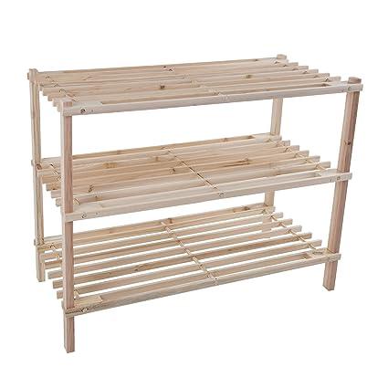 Amazoncom Lavish Home Wood Shoe Rack Storage Bench Closet