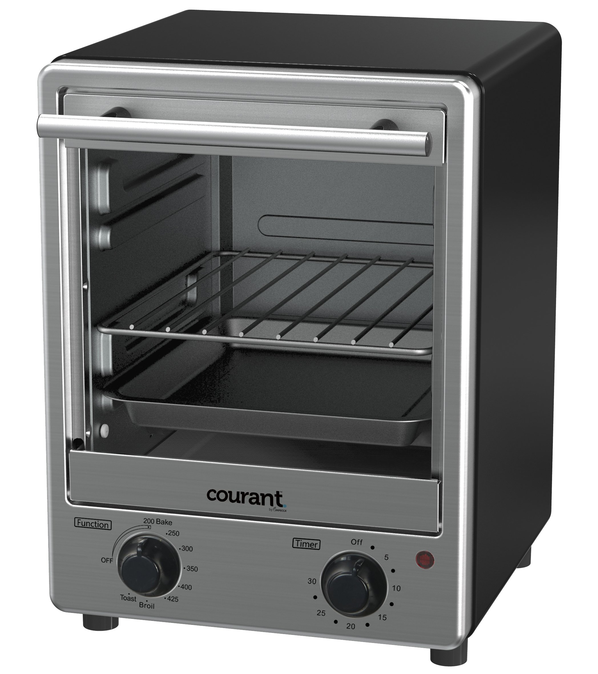 Courant Stainless Steel Toaster Oven with Tempered Glass Door and Galvanized Interior by Courant (Image #2)