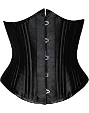 Camellias Women's 26 Steel Boned Heavy Duty Waist Trainer Corset Shaper for Weight Loss