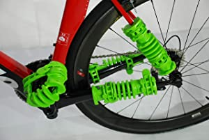 Bopworx Small Bopwraps - Detachable Bicycle Travel Protection System - Protects Bike Frames and Pedals During Transportation - x 2 Units