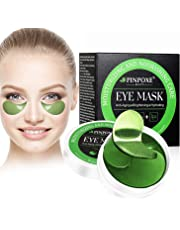 Maschera per gli occhi, Eye Patch, Maschera d'occhio del collagene, Eye Mask, Alghe occhi Pads, Maschere Eye Gel Patches - Idratante, anti-rughe, anti-età, cerchi scuri ed elimina tasche, 60 Patches