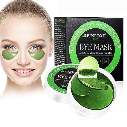 Máscara para los ojos, Parches para los ojos, Ojos Parches, Contorno de Ojos Antiarrugas, Anti edad para ojeras,bolsas,patas de gallo e hinchazón, 30 ...