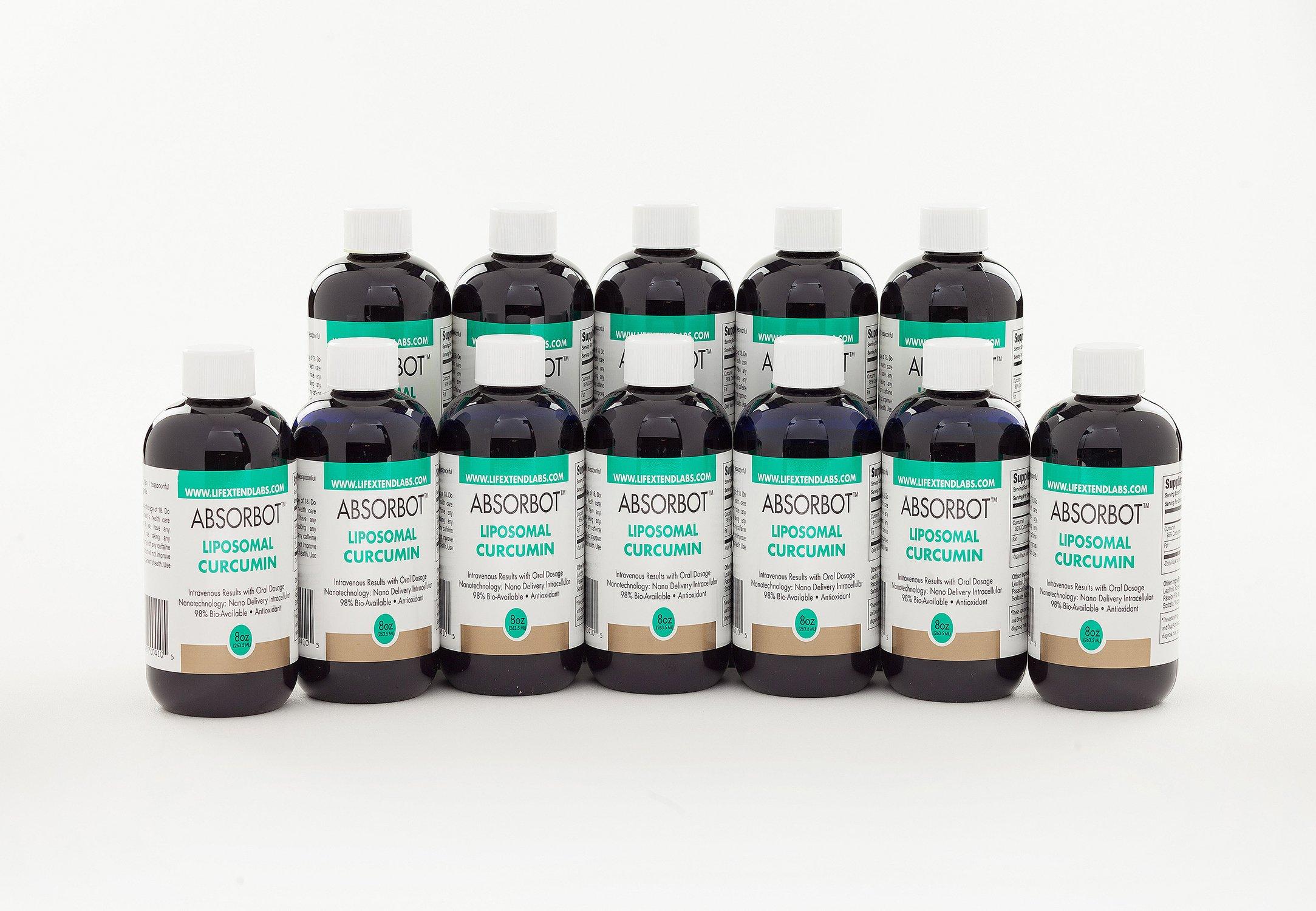 Absorbot Liposomal Curcumin (Turmeric), Case of 12 bottles, Maximum Bio Availability