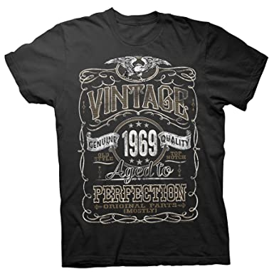 b6007c8d3 50th Birthday Gift Shirt - Vintage Aged to Perfection 1969 - Black-001-Sm