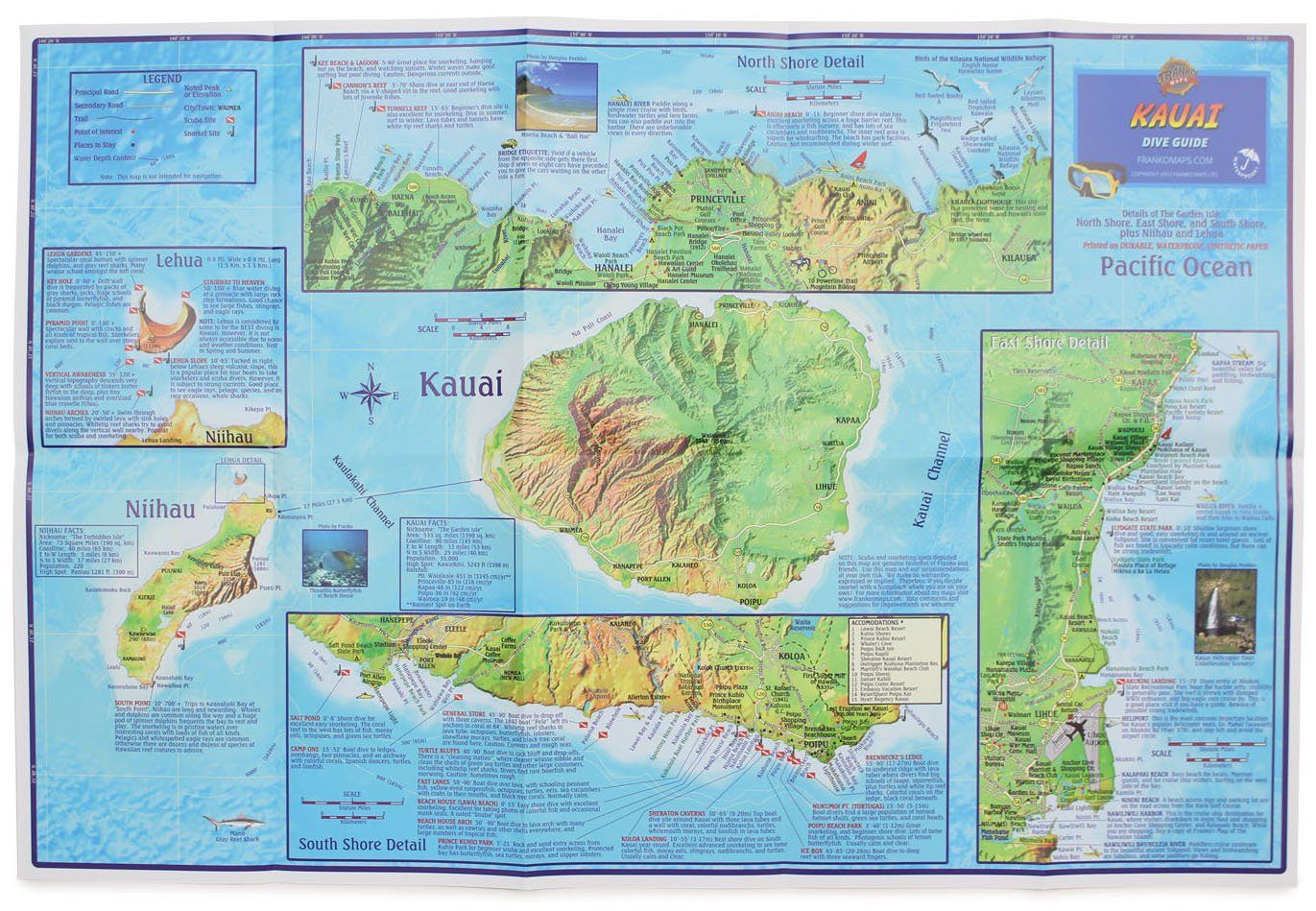 franko's dive map of kauai the garden isle frank nielsen amazoncom books. franko's dive map of kauai the garden isle frank nielsen