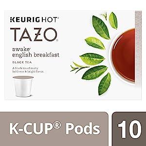 Tazo K-Cup Pods, Awake English Breakfast Black Tea, 10 Count, 1.51 Oz (Pack of 6) 880 grams