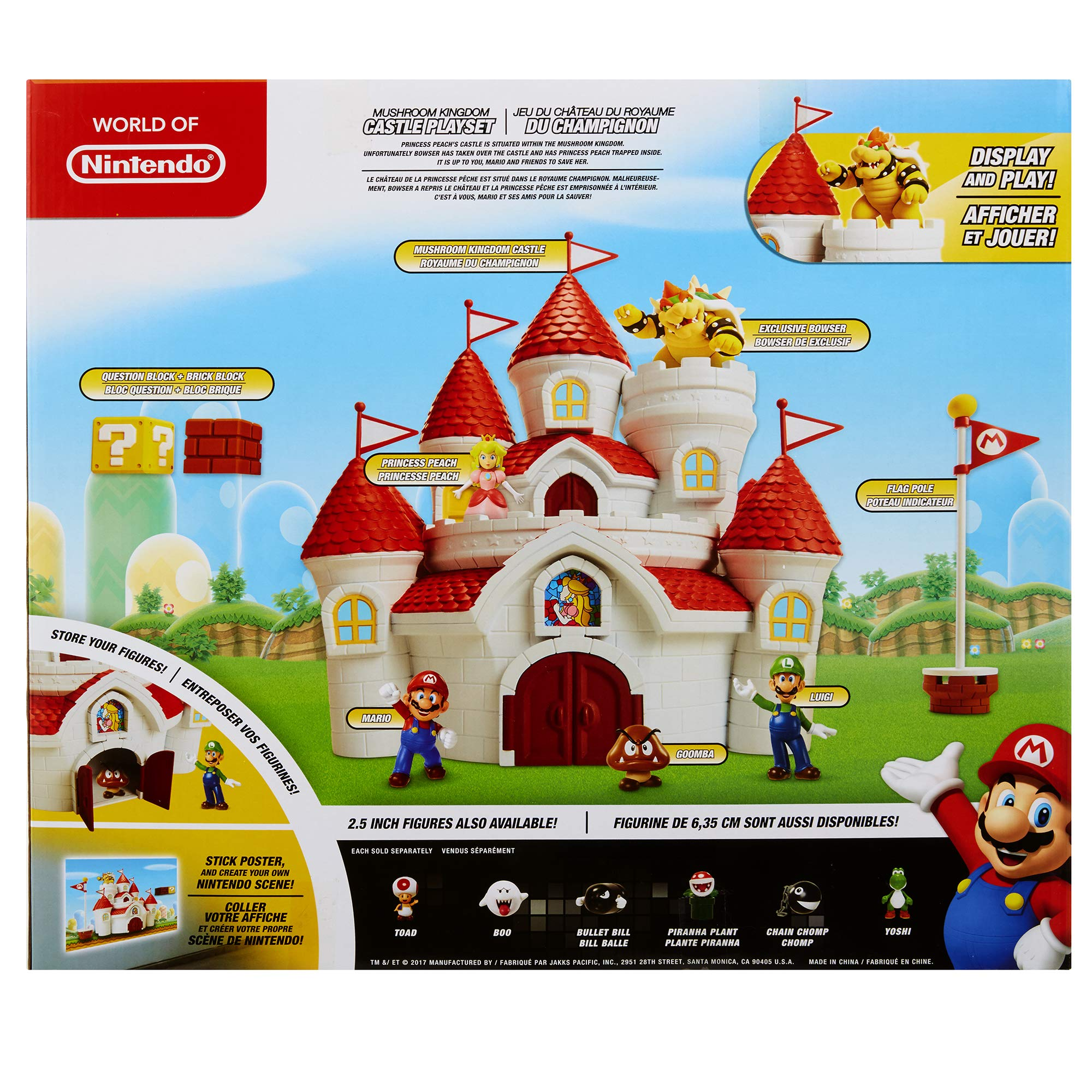 Nintendo Super Mario Deluxe Mushroom Kingdom Castle Playset with 5 Figures & 4 Accessories by Nintendo (Image #7)
