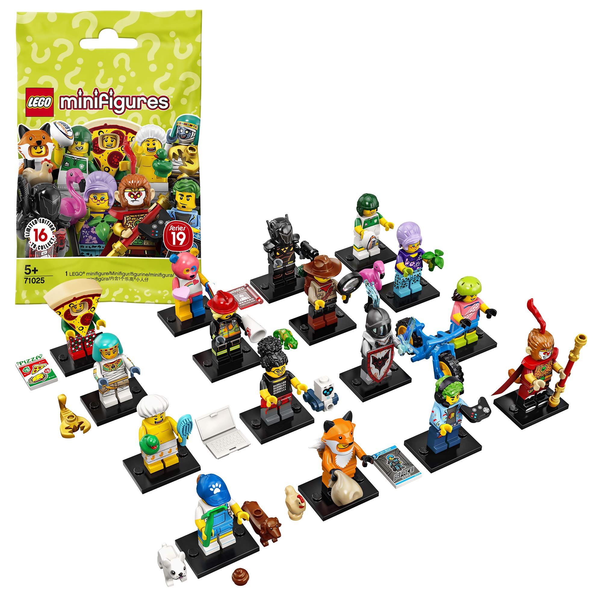 LEGO 71025 Minifigures Series 19, Collectible Toy, Variety of Styles (Style Picked at Random) - 1 Unit