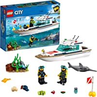 LEGO City Great Vehicles Diving Yacht 60221 Building Kit , New 2019 (148 Piece)